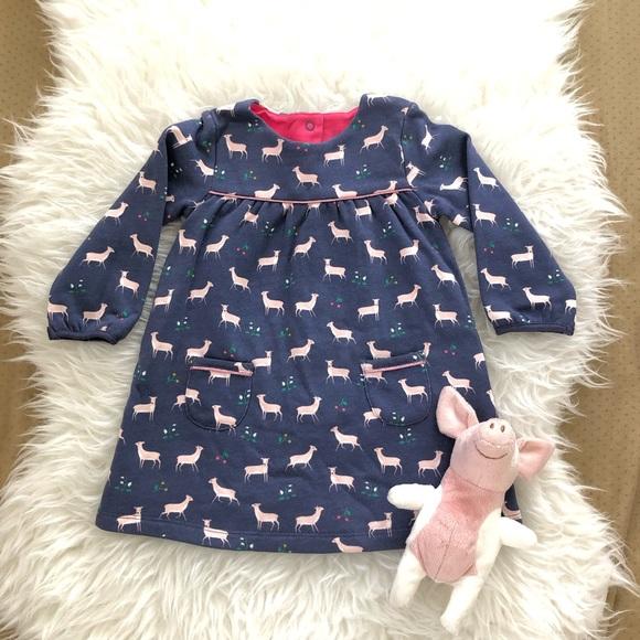 a06638ee461 Mini Boden Dresses | Baby Boden Deer Cozy Jersey Dress 612m | Poshmark